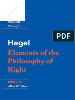 Hegel_ Elements of the Philosophy of Right - Georg Wilhelm Friedrich Hegel