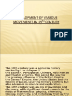 Development of Various Movements in 19th Century