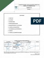GENER P 01 Identificación y Evaluación de Aspectos e Impactos Ambientales V3