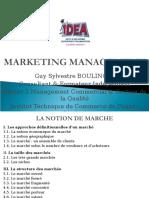 IDEA - 2 - La Notion de Marché