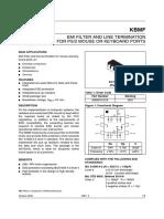 Protettore ESD e Filtro EMI STMicroelectronics, KBMF01SC6, Montaggio Superficiale Dual, SOT-23, 6 Pin