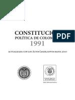 Constitución politica de colombia con actos legislativos hasta el 2010