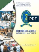 Informe Labores PPDDHH 2010-2011