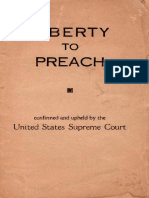 Liberty to Preach by Olin R. Moyle, 1938