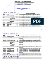 Oferta Generala Cursuri FSP 2016
