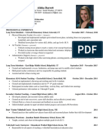 alisha barrett - current resume  1-30-16