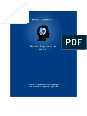 Hypnothoughts Script Book Volume 1 | Hypnotherapy | Hypnosis