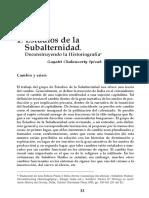 Estudios de La Subalternidad