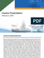 RDC Investor Presentation February 02 2016 FINAL Rowan