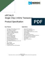 Datasheet nRF24L01