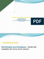 Semiologie Proctologique 2ème Année