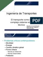 El Transporte Como Un Complejo Sistema Socio Tecnico