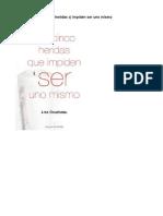 Bourbeau Lise – Las 5 Heridas q' Impiden Ser Uno Mismo