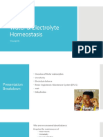 water   electrolyte homeostasis