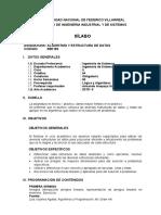 Algoritmos y Estructura de Datos 2015-II Semestral