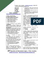 207 Questões de Raciocínio Lógico Prof.- Joselias Joselias@Uol.com.Br - Http---professorjoselias.blogspot.com