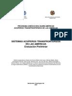 Sistemas Acuíferos Transfronterizos en Las Américas
