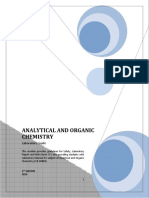 Lab Manual 2016 (Analytical and Organic Chemistry)