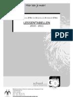 Lessentabellen 2010-2011