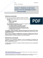 HN - Boite a Outils Pre-requis - Extrait Fiche Pratique 4 - Calcul Taux Disponibilite - Octobre 2012