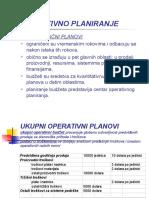 Operativno planiranje-primjer