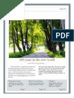 Parsons Newsletter Spring 2016