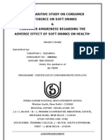 A Comparitive Study on Consumer Preference and Hazards of Soft Drinks, Ccp, Ignou