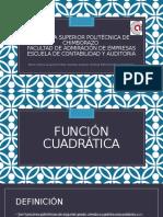 Funcion Cuadratica y Cubica