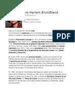 Biografia Gro Harlem Brundtland