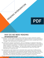 Week 4 Powerpoint - Reading Intervention