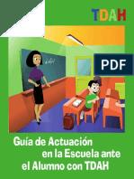 Guía de Atención en La Escuela a Alumnos Con Tdah
