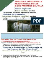 Tipos de Vegetacion y Listado de La Flora Ecologia General