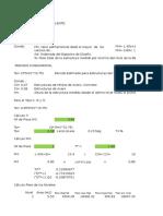 Hoja de Calculo para calcular Fuerza de Corte Basal para Estructura de 2 Pisos