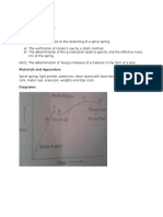 Physics Elasticity Laboratory Report