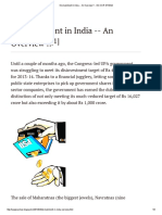Disinvestment in India -- An Overview !!