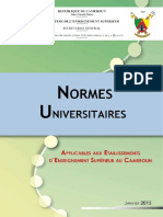 NORMES UNIVERSITAIRES CAMEROUNAISES
