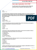 Current Affairs Q&A September 2015 PDF by AffairsCloud