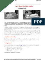 Building a Home Made Belt Sander