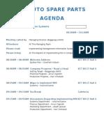 G4 Auto Spare Parts Agenda
