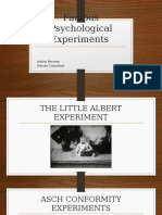 Famous Psychological Experiments