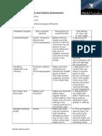 Potential Hazards Health and Saftey Assement