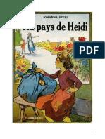 Johanna Spyri Au Pays de Heidi