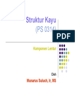 Struktur Kayu Komponen Lentur