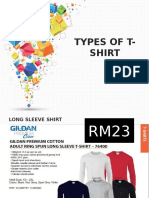 Types of T-shirt