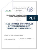 Normes comptables internationales