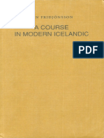 A Course in Modern Icelandic