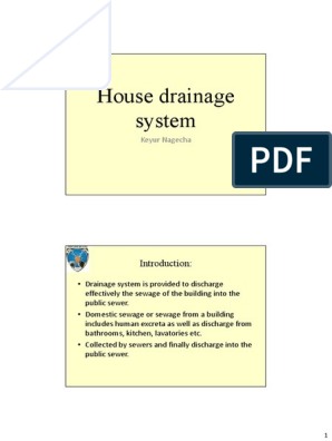 House Drainage System | Sanitary Sewer | Sink