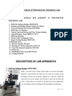 Description of Lab Apparatus