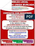 Cartel Asamblea Local (Rojo)