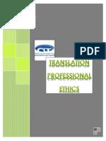 Professional Ethics for Translation